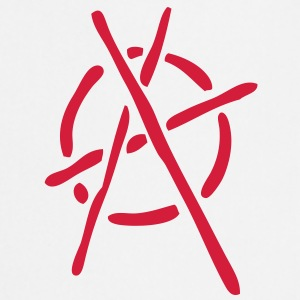 anarchy logo stencil - Cooking Apron
