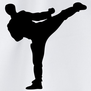 karate kick - Drawstring Bag