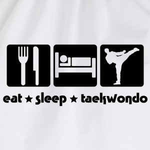 EAT SLEEP TAEKWONDO - Drawstring Bag