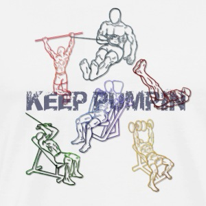 Keep Pumpin Tank Tops - Männer Premium T-Shirt