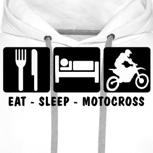EAT SLEEP MOTOCROSS - Men's Premium Hoodie