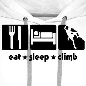 EAT SLEEP CLIMB - Men's Premium Hoodie