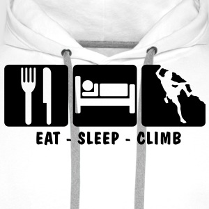 EAT SLEEP CLIMB 3 - Men's Premium Hoodie