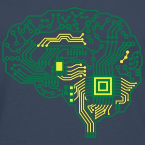 Android brain pcb T-Shirts - Men's Premium Longsleeve Shirt