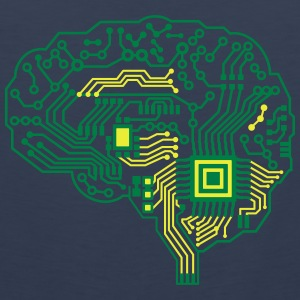 Android brain pcb T-Shirts - Men's Premium Tank Top