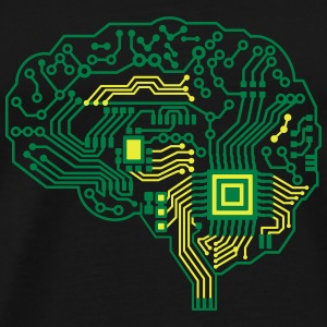 Android brain pcb Bags & Backpacks - Men's Premium T-Shirt