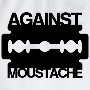 Against Mustache Rasierklinge Shirt - Turnbeutel