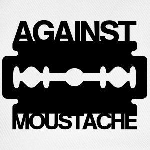 Against Mustache Razor T-Shirts - Baseball Cap
