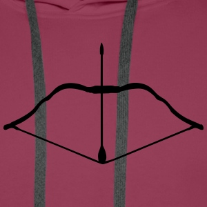 bow and arrow Shirts - Men's Premium Hoodie