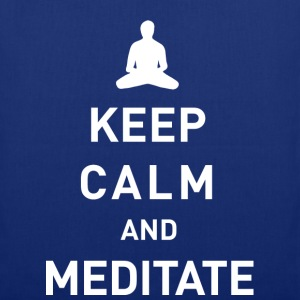 Keep calm and meditate - Stoffbeutel