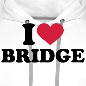 I love Bridge T-Shirts - Männer Premium Hoodie