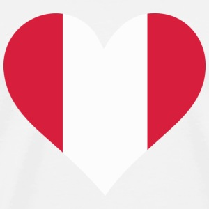 A Heart for Peru Long Sleeve Shirts - Men's Premium T-Shirt