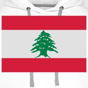 Drapeau national du Liban Tee shirts - Sweat-shirt à capuche Premium pour hommes