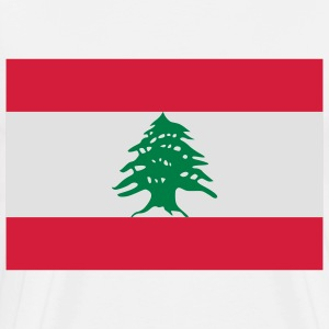 National Flag of Lebanon Polo Shirts - Men's Premium T-Shirt