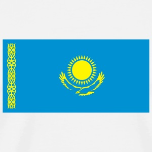 National Flag of Kazakhstan Mugs & Drinkware - Men's Premium T-Shirt