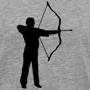 archery, archer Long sleeve shirts - Men's Premium T-Shirt