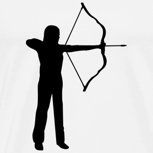 archery, archer - woman Long Sleeve Shirts - Men's Premium T-Shirt