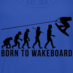 wakeboarding evolution born to wakeboard - Women's Tank Top by Bella