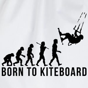 kiteboarding evolution born to kiteboard - Drawstring Bag