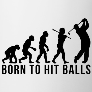golf evolution born to hit balls - Mug