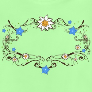 An Edelweiss and gentian frame Shirts - Baby T-Shirt