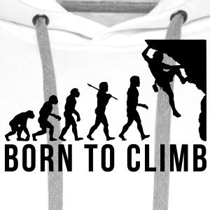 rock climbing evolution born to climb - Men's Premium Hoodie