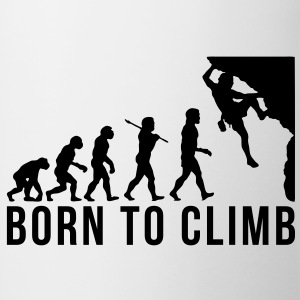 rock climbing evolution born to climb - Mug