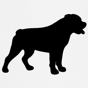 dog   rottweiler silhouette - Cooking Apron