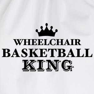 wheelchair basketball king - Drawstring Bag