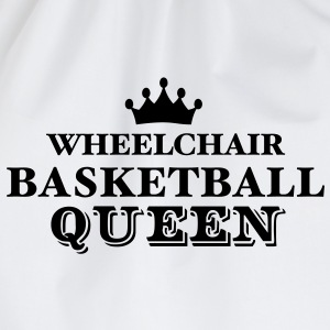 wheelchair basketball queen - Drawstring Bag