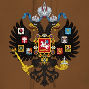 Coat of Arms of the Russian Empire - Felpa con cappuccio premium da donna