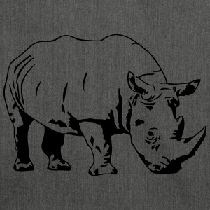 Nashorn - Rhino Pullover & Hoodies - Schultertasche aus Recycling-Material