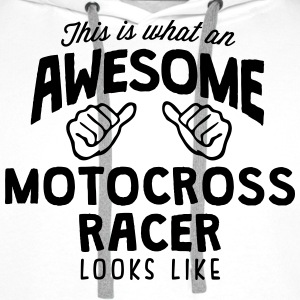 awesome motocross racer looks like - Men's Premium Hoodie