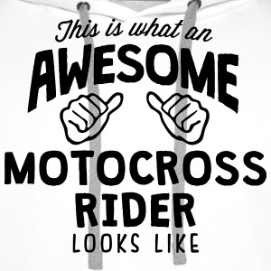 awesome motocross rider looks like - Men's Premium Hoodie