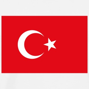 National Flag of Turkey Langarmede T-skjorter - Premium T-skjorte for menn