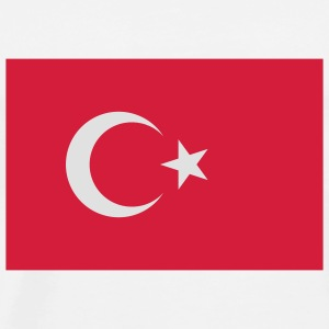 National Flag of Turkey Skjorter - Premium T-skjorte for menn
