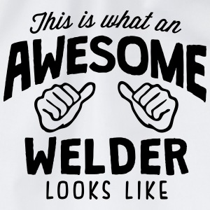awesome welder looks like - Drawstring Bag