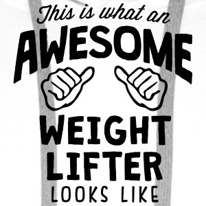 awesome weight lifter looks like - Men's Premium Hoodie