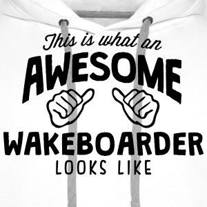 awesome wakeboarder looks like - Men's Premium Hoodie