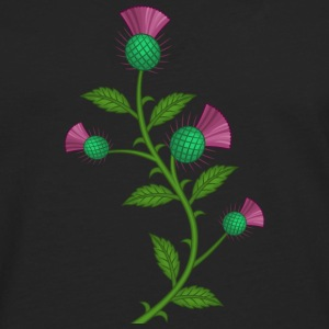 Scottish Thistle flower - Herre premium T-shirt med lange ærmer