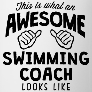awesome swimming coach looks like - Mug