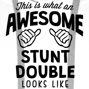 awesome stunt double looks like - Men's Premium Hoodie