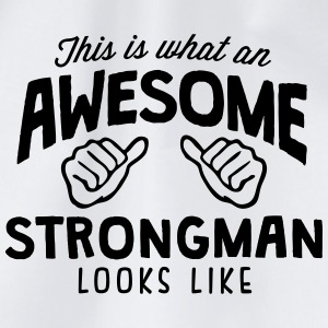 awesome strongman looks like - Drawstring Bag
