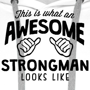 awesome strongman looks like - Men's Premium Hoodie