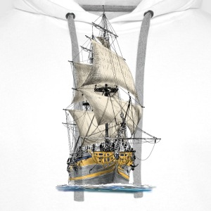 sailing ship Tee shirts - Sweat-shirt à capuche Premium pour hommes