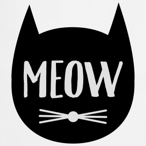 MEOW (Cat Silhouette) Hoodies & Sweatshirts - Cooking Apron