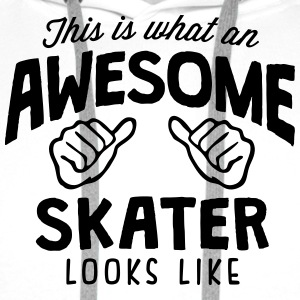 awesome skater looks like - Men's Premium Hoodie