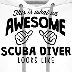 awesome scuba diver looks like - Men's Premium Hoodie