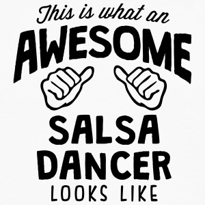 awesome salsa dancer looks like - Men's Premium Longsleeve Shirt