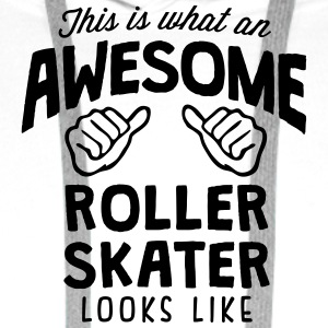 awesome roller skater looks like - Men's Premium Hoodie